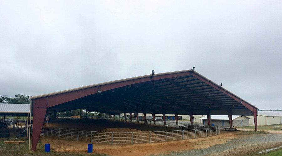 Steel Riding Arena | Open Endwalls