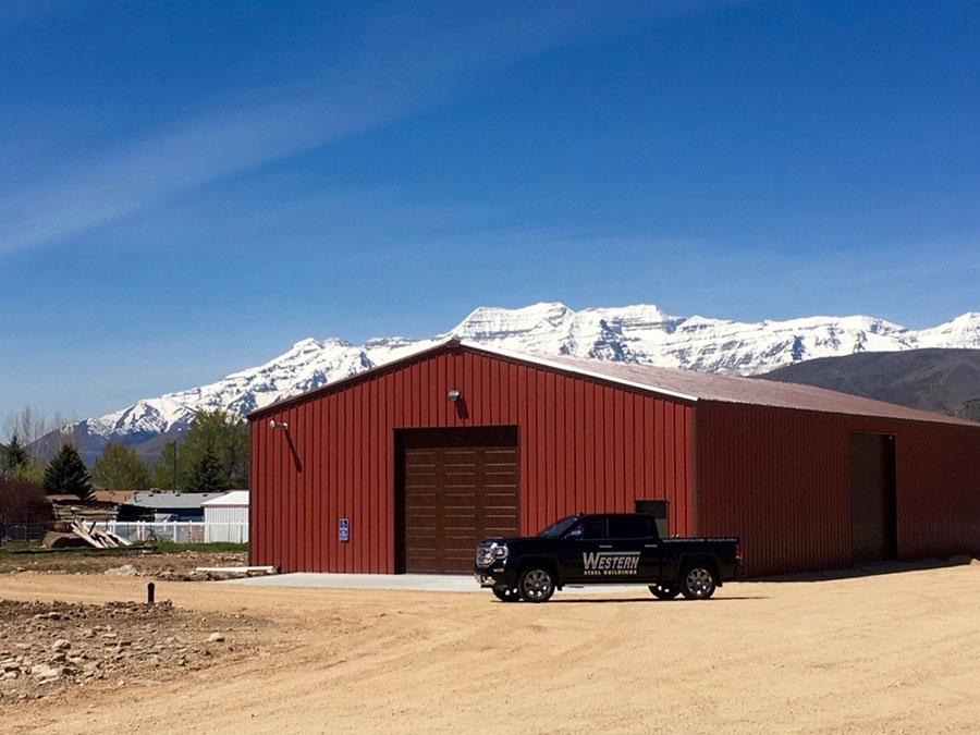 Agricultural Steel Building with Custom Garage Door