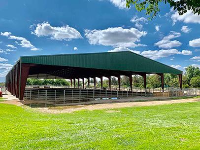 Open Air Riding Arena  Yucaipa, California 150 x 250 x 16